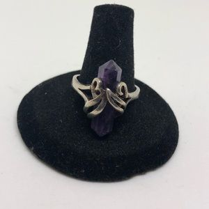 Jewelry - Sterling silver amethyst crystal ring